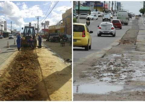 Obras seguiam em ritmo acelerado, no entanto, com a chegada das chuvas, todo o serviço teve de ser interrompido.