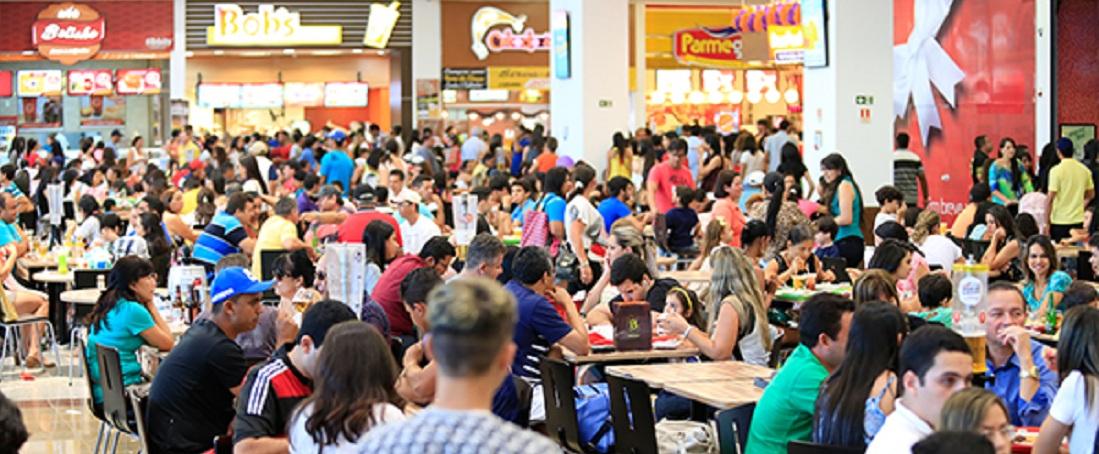 Praça de Alimentação do primeiro e único shopping center do interior