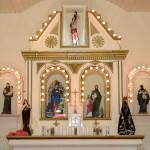 altar iluminado