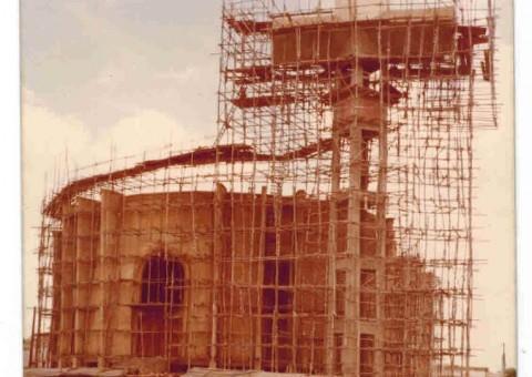 Construção da concatedral, na década de 70