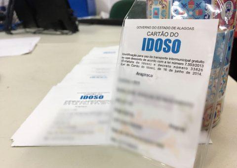 Cartão do Idoso é emitido gratuitamente pelo município através de parceira com o Governo de Alagoas.