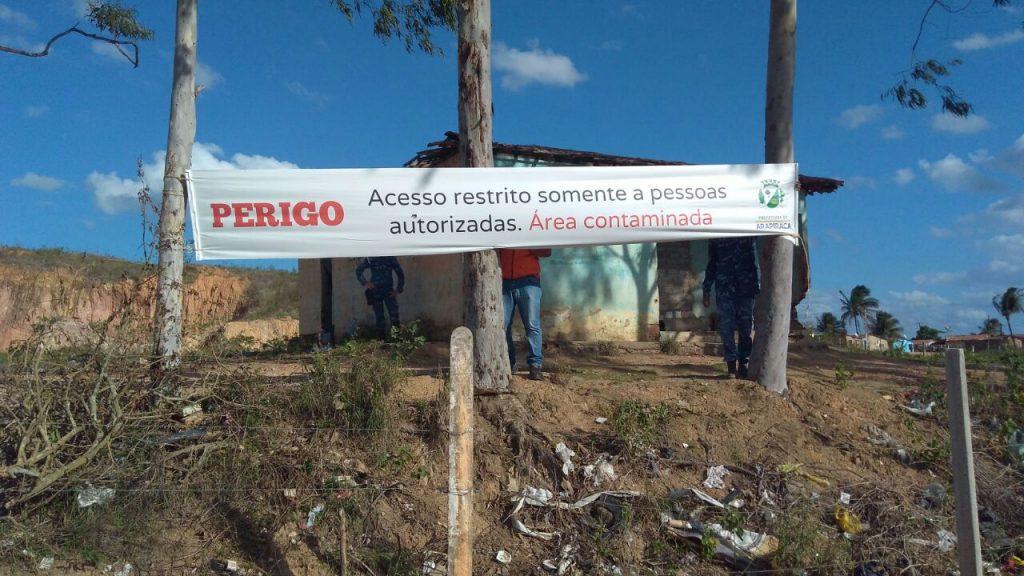 Acesso ao antigo lixão está restrito a pessoas autorizadas