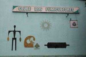 Arte feita pelo artista no Clube dos Fumicultores